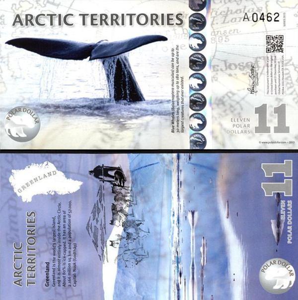 11 Polárnych dolárov Arktída 2013, polymer
