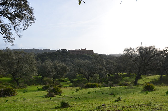 General view of the Sanctuary of Terraces from the access road, Munigua (Municipium Flavium Muniguensium), Baetica, Spain