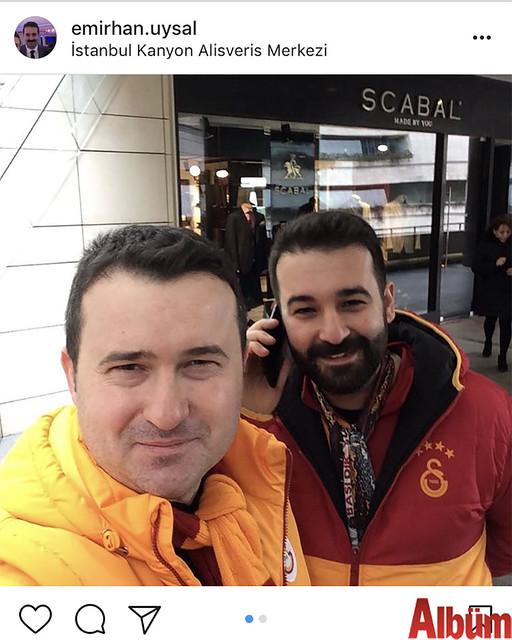 Emirhan Uysal, Galatasaray maçı öncesi İstanbul Kanyon Alışveriş Merkezi'nde keyifli bir gün geçirdi.