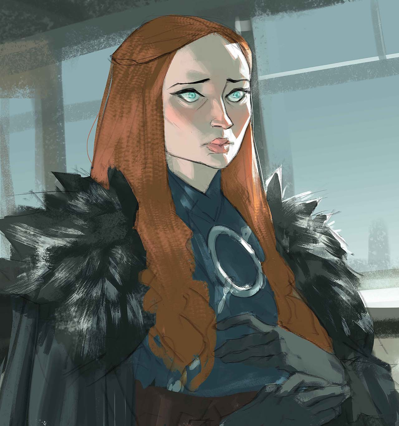 Artist Creates Unique Character Arts From Game Of Thrones – Sansa Stark Character Art By Ramón Nuñez