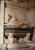 Man resting on books - Grave with sphinxes - Chiesa Sanata Maria della Pace, Rome by Monceau