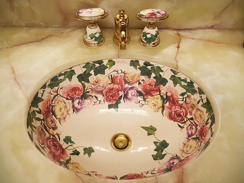floral sink