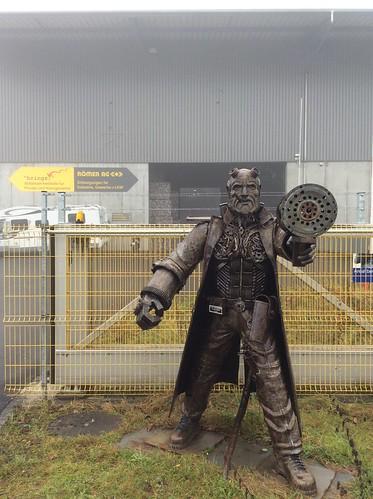 Wohlen AG, Switzerland - Sculpture of scrap metal