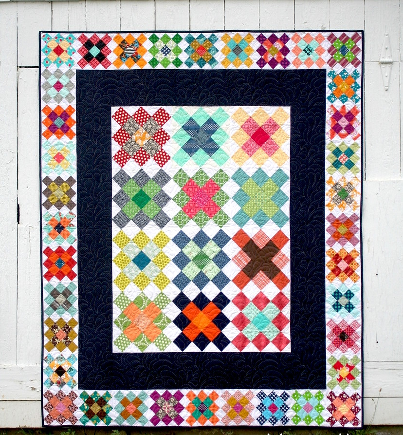 Farmhouse Porch Quilt Pattern Flat Full Front