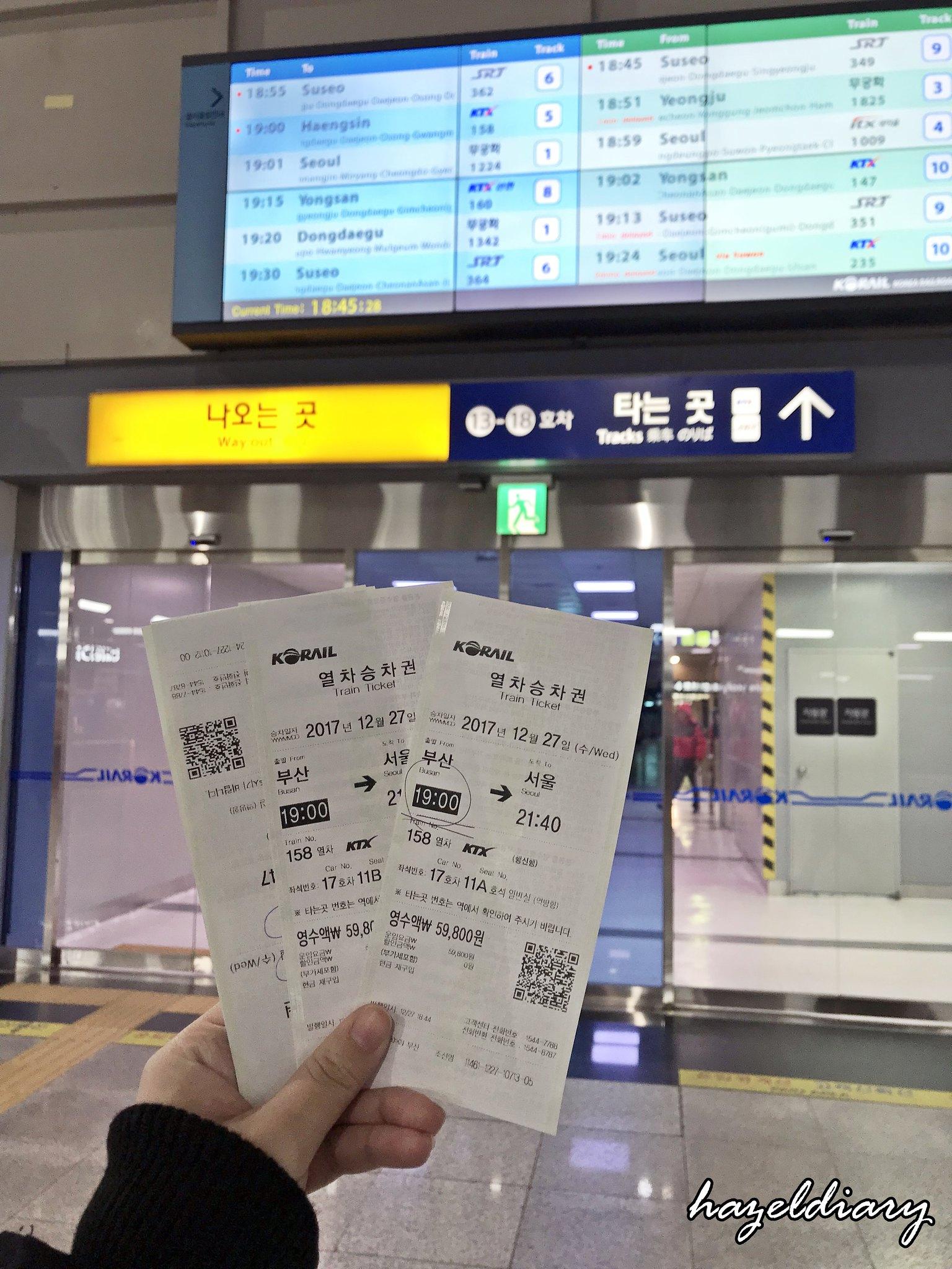 Train to Busan Ticket