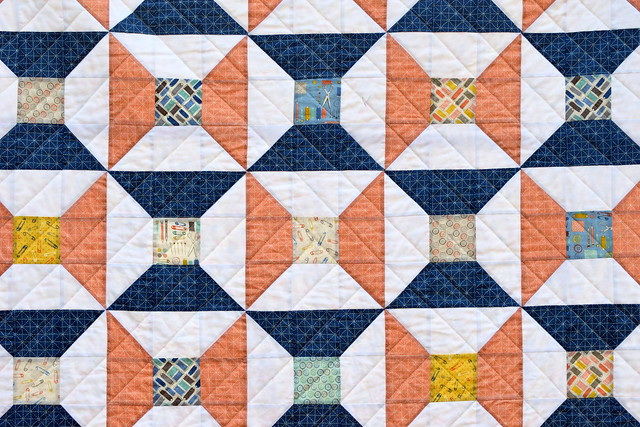 Handmade Spools Quilt (British Patchwork & Quilting Jan18)