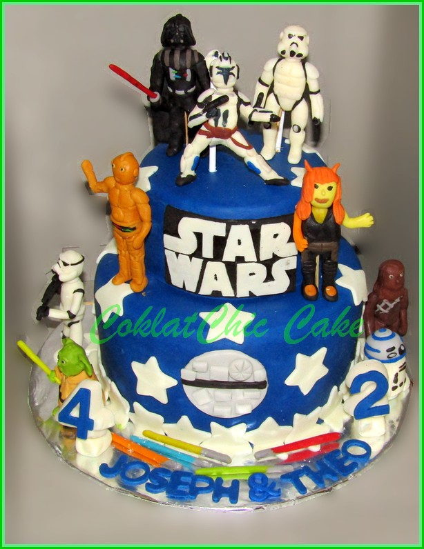 Cake StarWars JOSEPH & THEO 15 cm + 12 cm