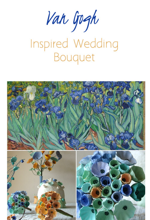 Van Gogh-Inspired Wedding Bouquet by Alessandre Fabre Repetto
