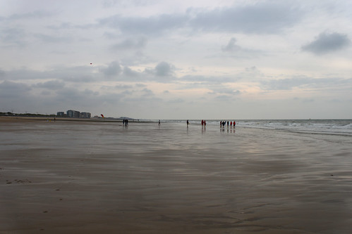 walking on beach close to sea