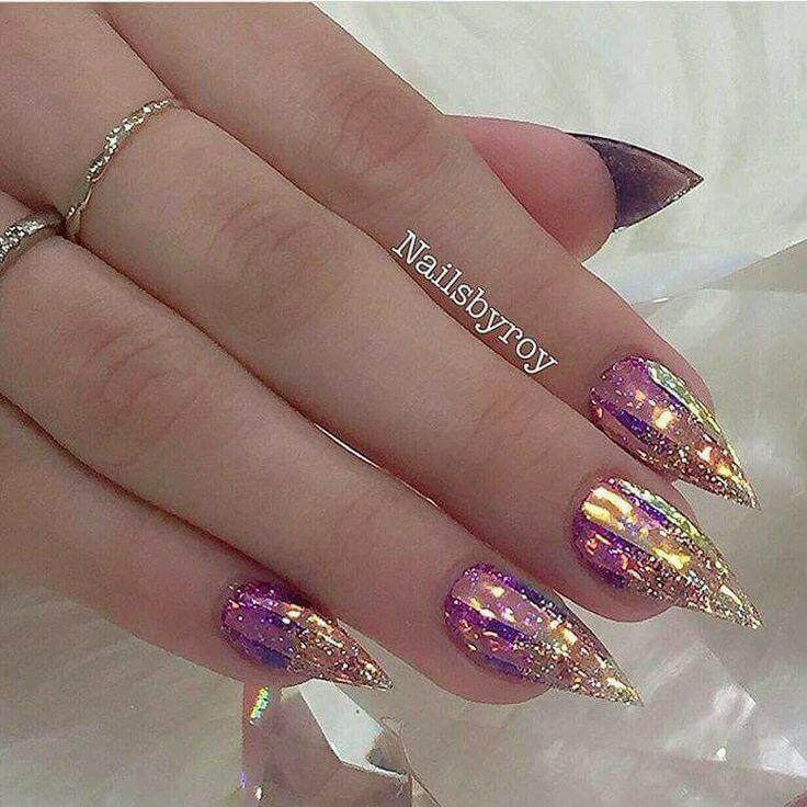 50 Pretty Summer Nails manicures-Nails Art 2018