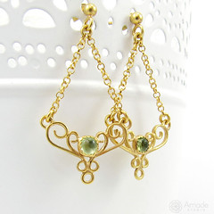 amade_golden_lace_earings_olivine