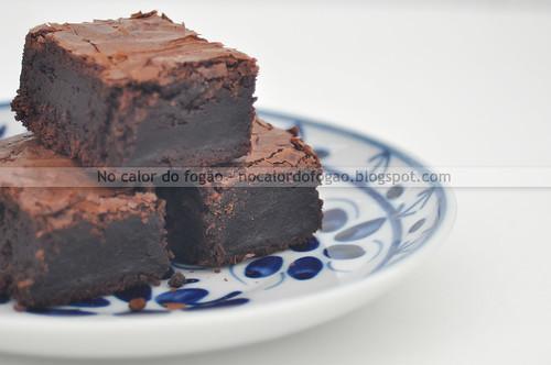 Brownies de espelta - de perto