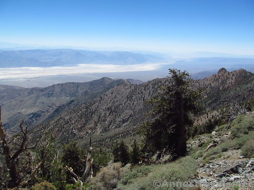 Looking across unique ridgelines to the south of Death Valley National Park from the Telesceope Peak Trail, California