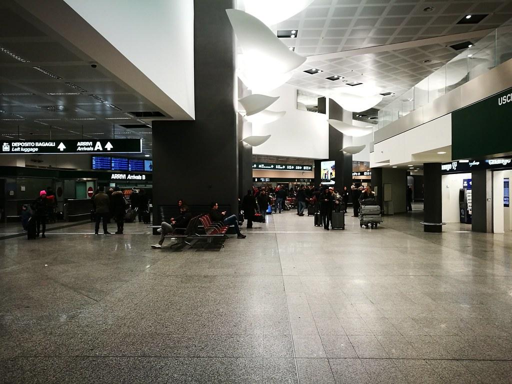 Arrival hall at Malpensa