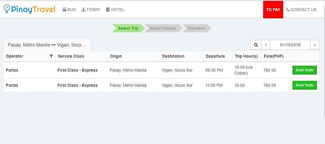 Hướng dẫn cách đặt vé xe buýt online ở Philippines