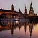 Fin de journée à Dresden