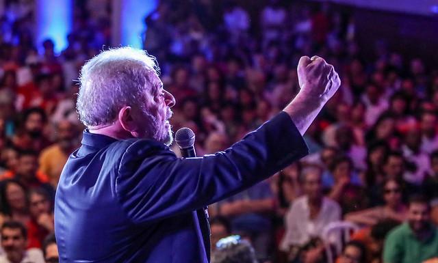 Ex-presidente Lula em Ato com artistas e intelectuais em São Paulo no último dia 18 - Créditos: Ricardo Stuckert