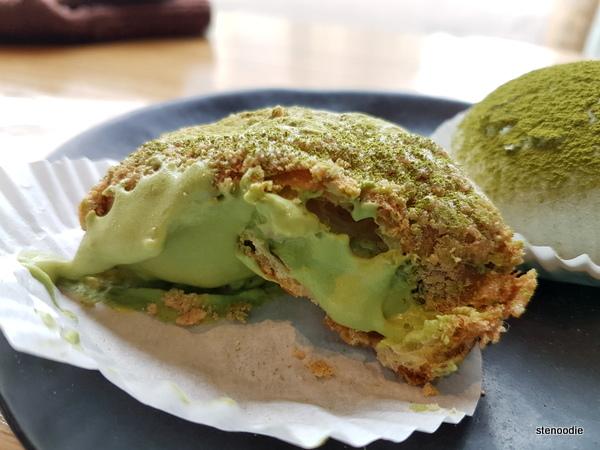 Matcha Cookie Puff matcha cream