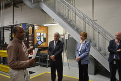 Reps. Storms and Zawistowski learn about the Honda warehouse and logistics operations