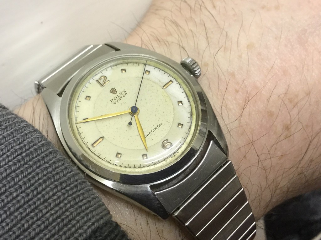 Rolex Oyster Precision, model 6024, early 1950s with super oyster crown.
