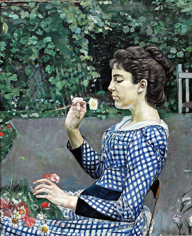 Ferdinand Hodler - Portrait of Hélène Weiglé (1888)