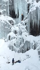 Climbing the Icicles at Franklin Falls
