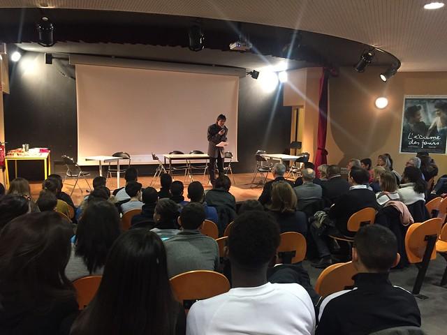 Visite de la rectrice au collège Marcel Pagnol de Pierre-Bénite dans le cadre des actions de lutte contre le harcèlement