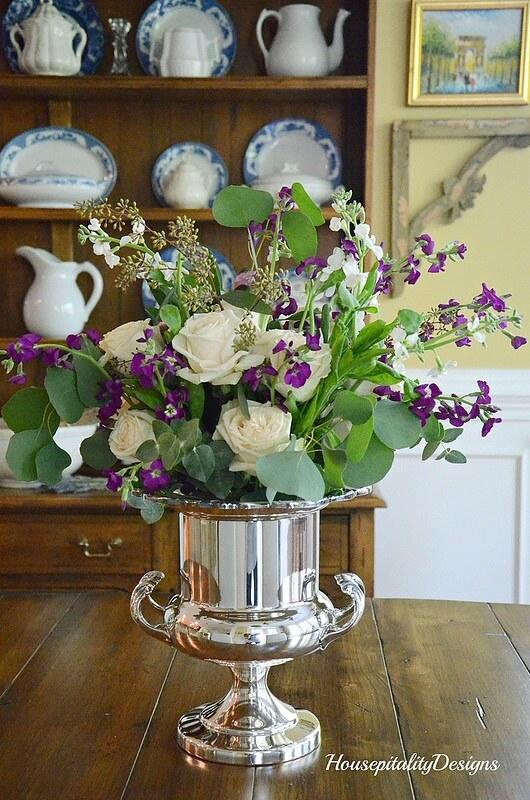 White Roses Arrangement-Housepitality Designs
