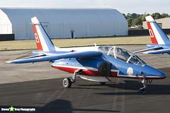 E95 8 F-TERQ - E95 - Patrouille de France - French Air Force - Dassault-Dornier Alpha Jet E - RIAT 2010 Fairford - Steven Gray - IMG_7360