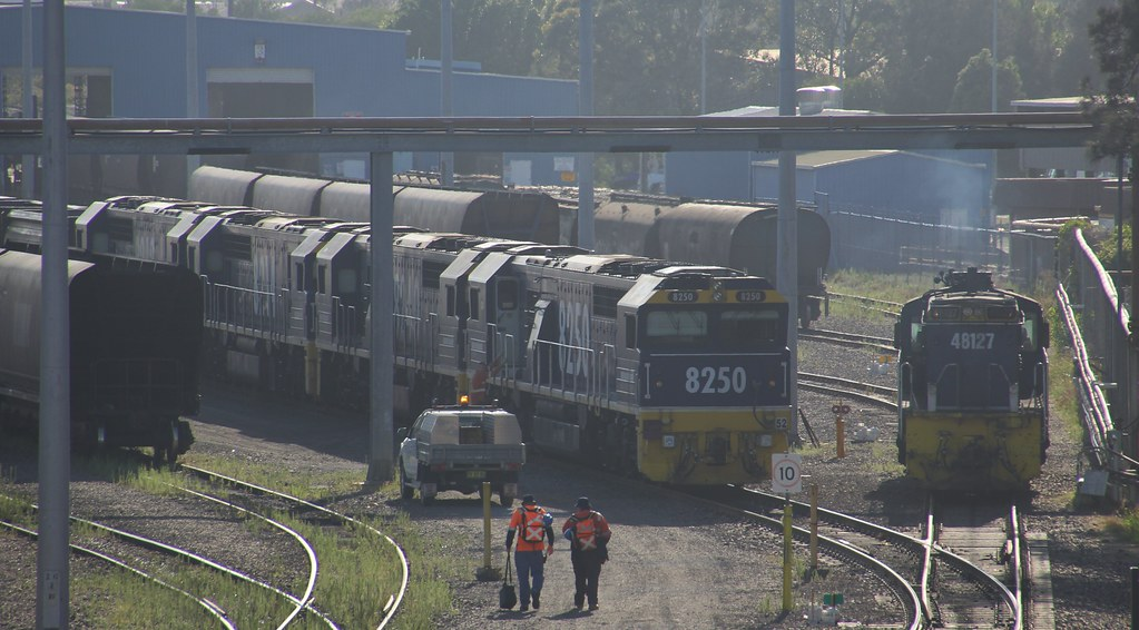 8250 8240 8214 and 8243 are about to get a fresh crew to run an empty PN coal train by bukk05