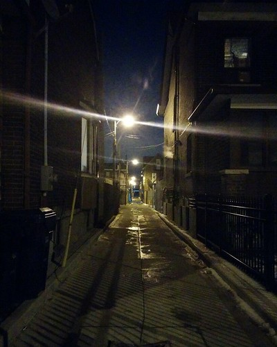Alley east off of Lansdowne, south of Lappin #toronto #wallaceemerson #lansdowneave #alley #laneway #night #lappinave