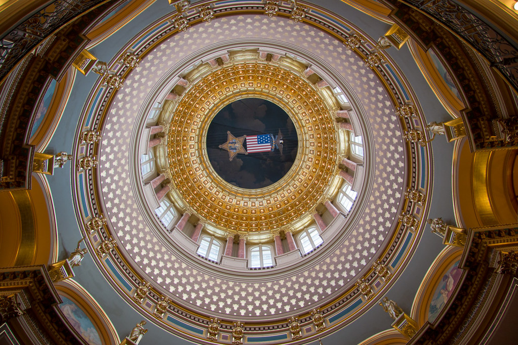 Inside the Inner Dome at the Iowa Capitol Building