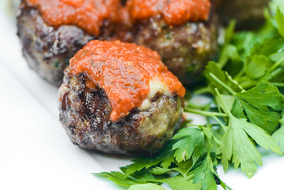 Cheese-stuffed Italian Meatballs