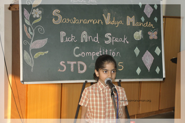 Inter house Pick and Speak Competition