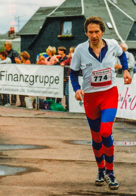 Karlheinz im Ziel des Rennsteig Super-Marathons
