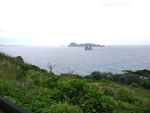 大宝寺から五島市中心部へ向かう国道384号からの景色