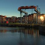 Boat lift at Preston Docks