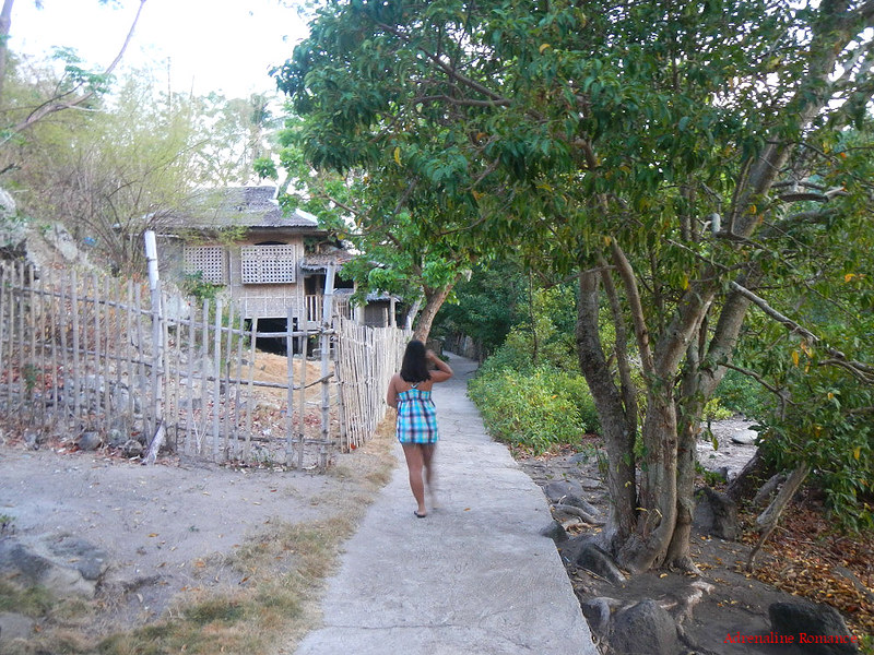 Walking around Apo Island