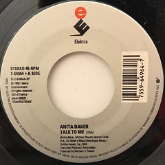 ANITA BAKER:TALK TO ME(LABEL SIDE-A)