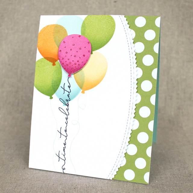 Lizzie Jones Time To Celebrate Balloons Card