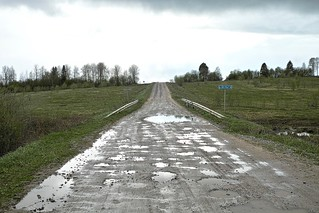 DP2M6609. The Rain-Soaked Road to Skrepyaschevo (Скрепящево)