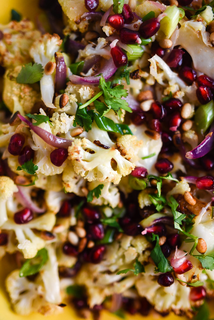 Roasted Cauliflower with Pomegranate | Things I Made Today