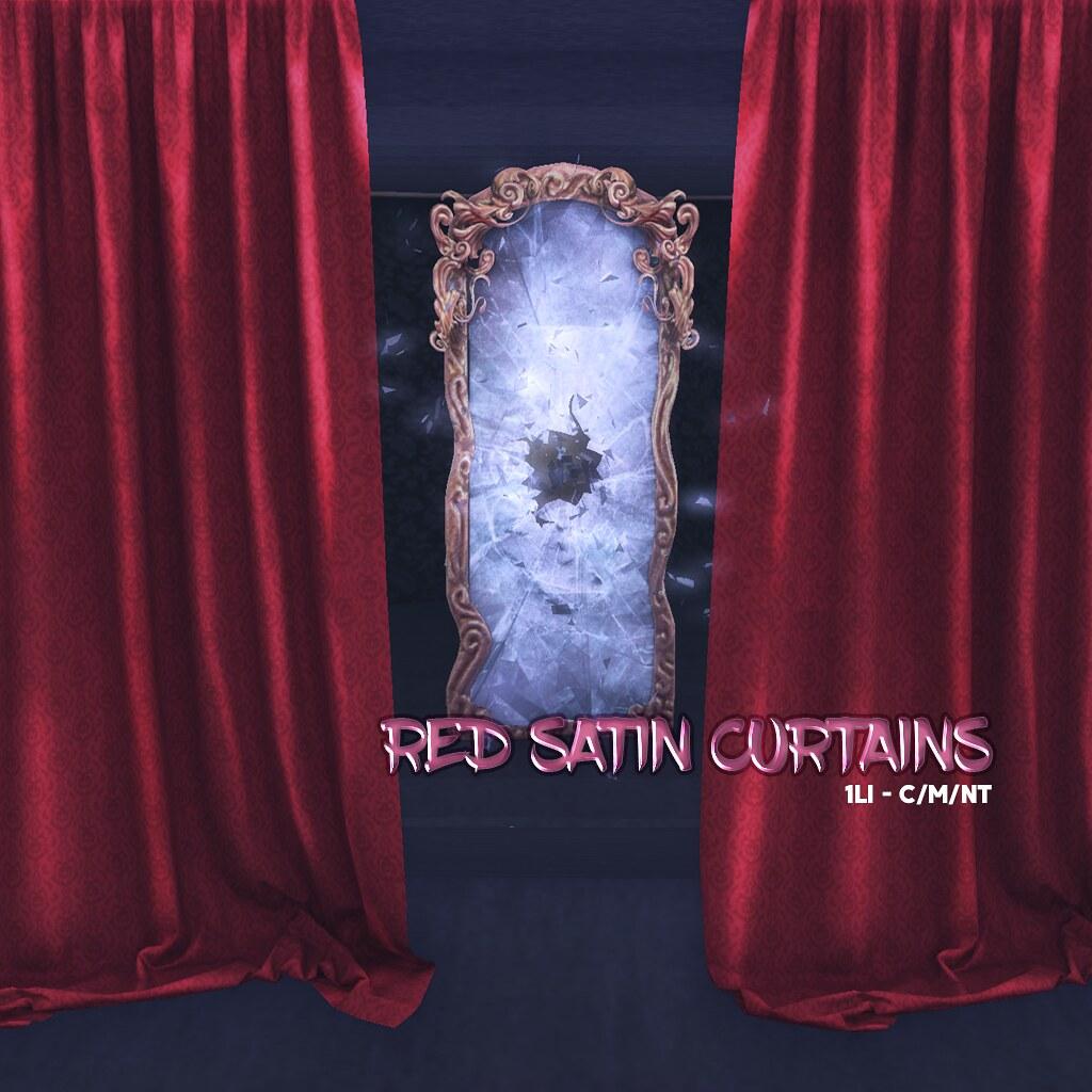 DELIRIUM +LUNACY+ // Red Satin Curtain