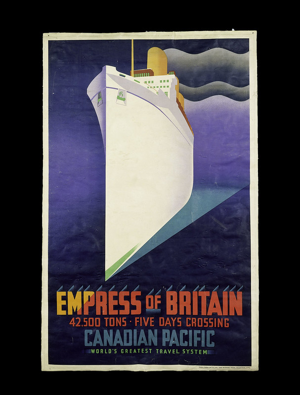 Empress of Britain, poster for Canadian Pacific Railways, 1920, credit V&A London