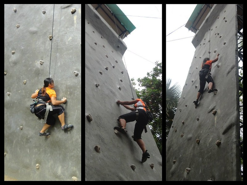 Papa Kit's wall climbing