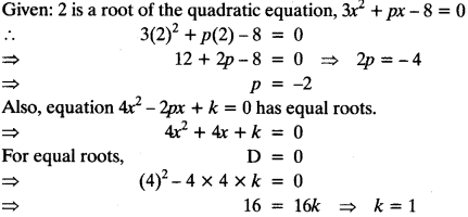 Quadratic Equations Chapter Wise Important Questions Class 10 Mathematics 64
