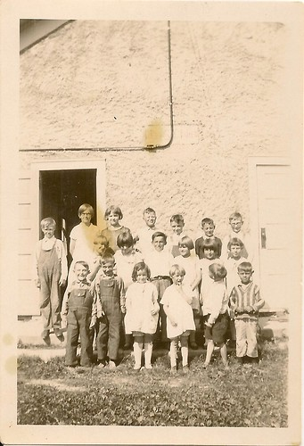 One room school; Phlox WI; circa 1926