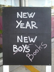 New year chalk board