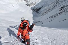 Besteigung Mount Everest von Süden/Nepal. Aufstieg durch die Lhotse-Flanke zum Südsattel, 8000 m. Foto: Archiv Härter.