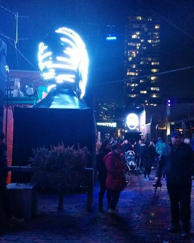 Talking Heads (3) #toronto #tolightfest #distillerydistrict #talkingheads #victorvicsek #latergram